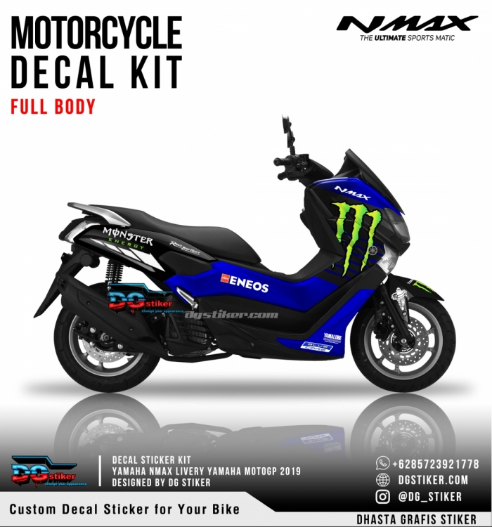 Decal Sticker Nmax Livery Yamaha MotoGP 2019 DG Stiker