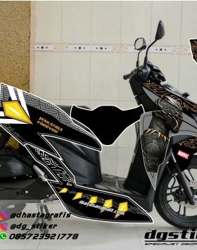 Decal Vario 150 2018 Black Panther v.2
