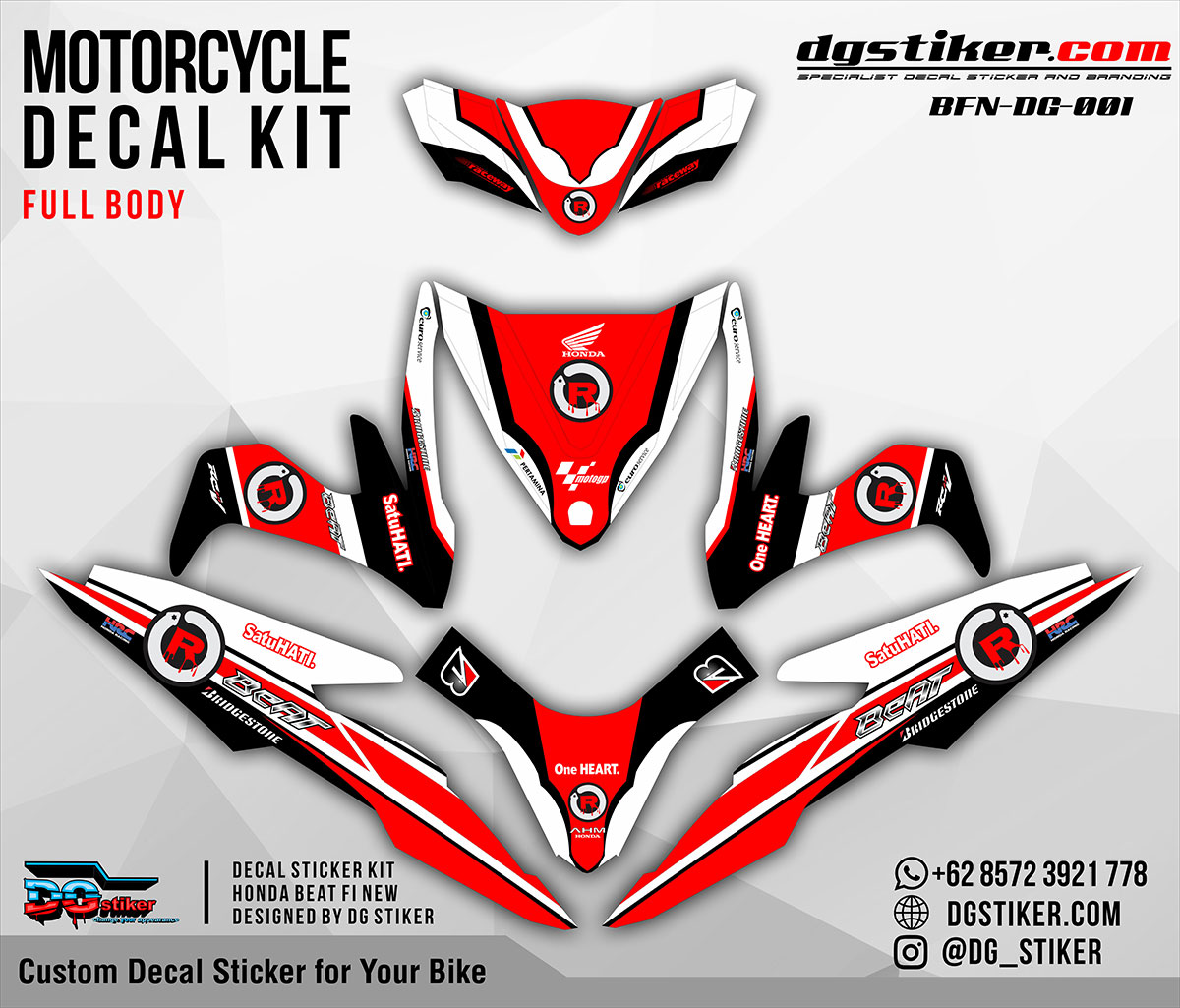 Decal Striping Beat FI New Lorenzo DG Stiker