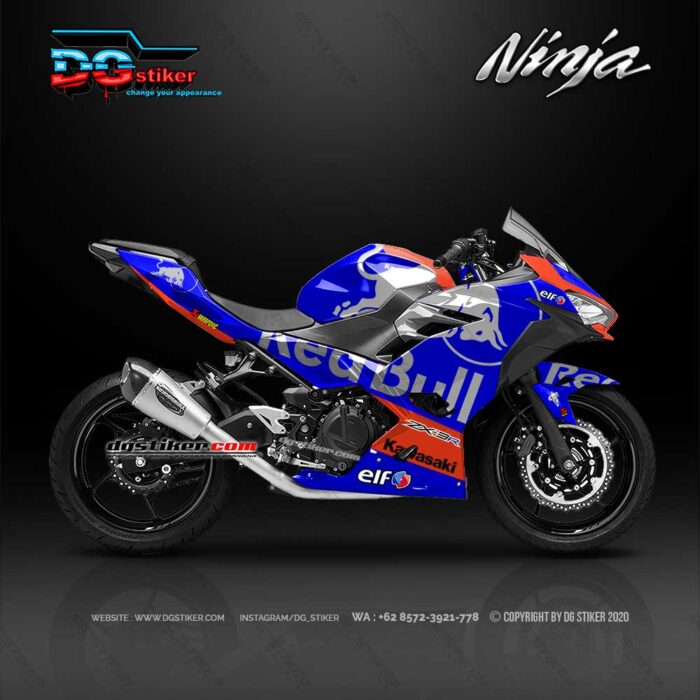 Decal Sticker All New Ninja 250 FI Redbull Tech3 DG Stiker