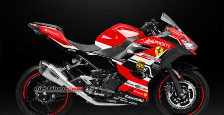 Decal Sticker All New Ninja 250R FI 2018 Merah Ferrari DG Stiker