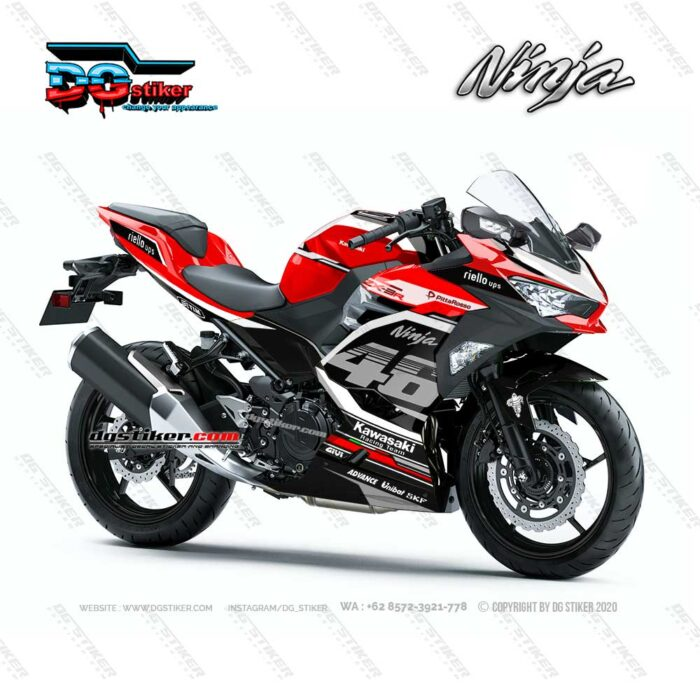 Decal Sticker Ninja 250R FI 2018 VR46 DG Stiker