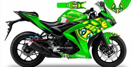 Decal Sticker R25 Hijau VR46 Icon Full Body DG Stiker