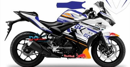 Decal Sticker R25 Putih shoei Lotus Marc Go DG Stiker