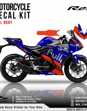 Decal Sticker R25 Redbull KTM Tech3 2019 DG Stiker