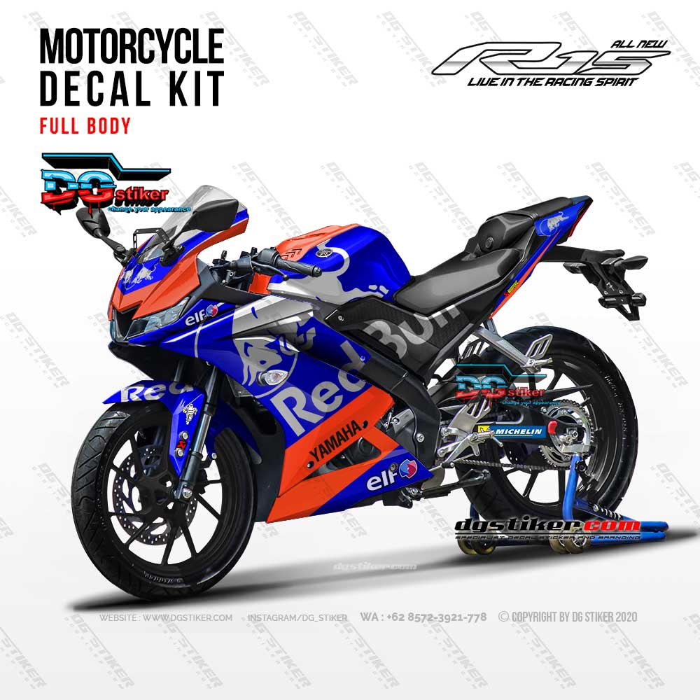 Decal Striping Full Body R15 V3 Redbull Tech3 DG Stiker