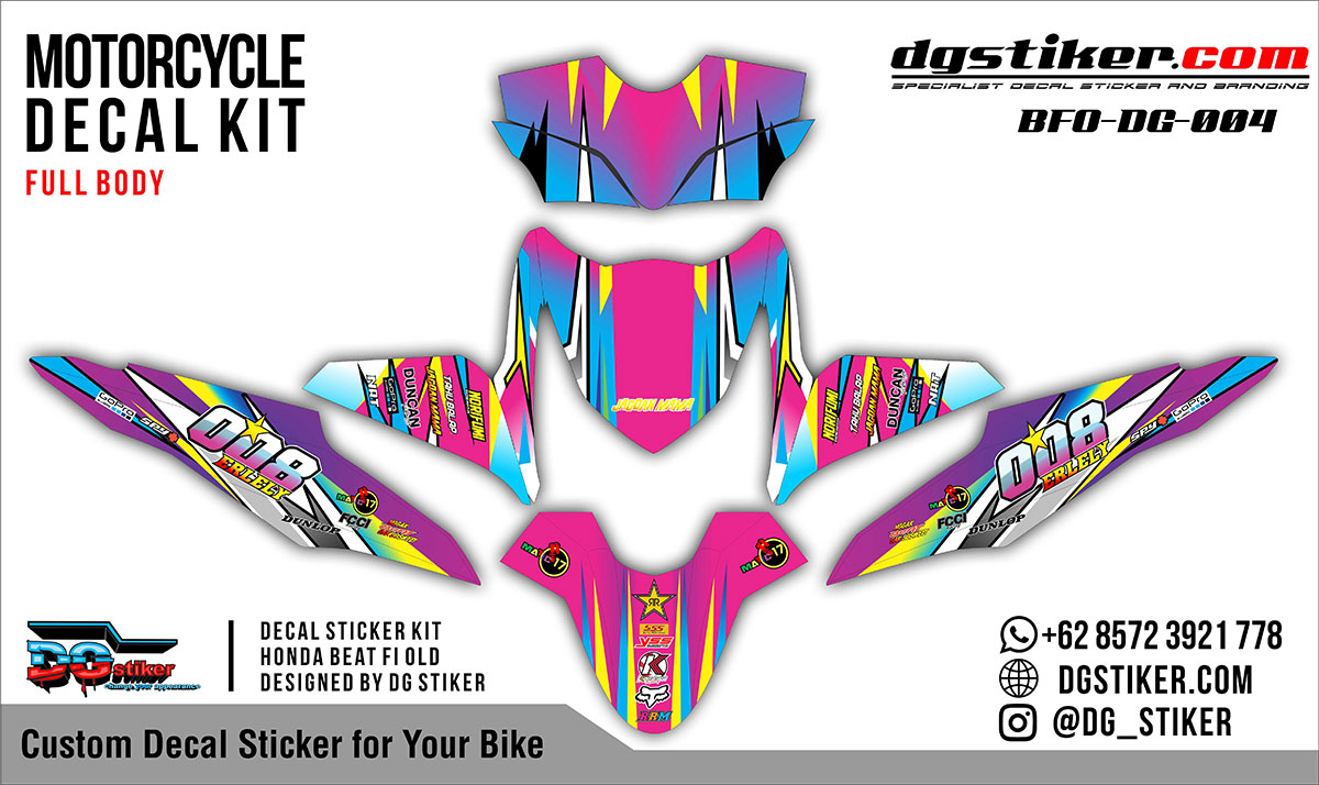 Decal Striping Honda Beat FI Racing DG Stiker