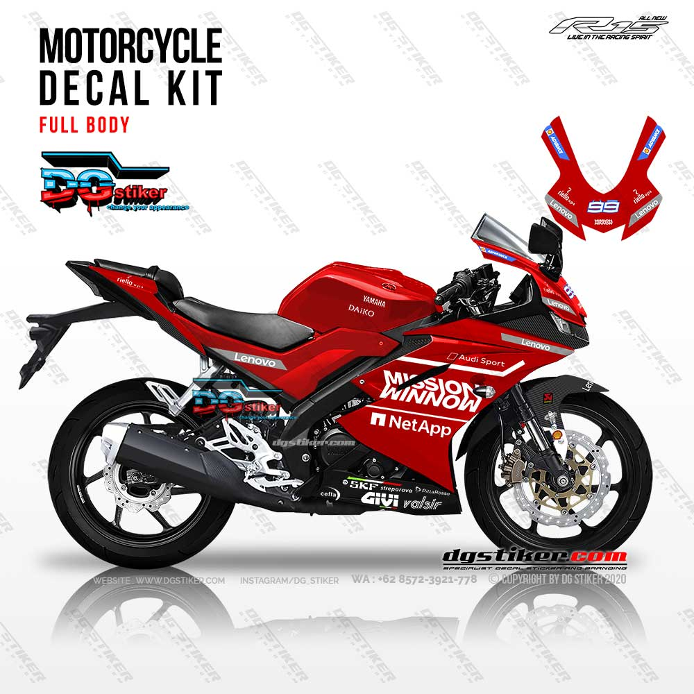 Decal Striping R15 V3 Ducati Desmosedici DG Stiker