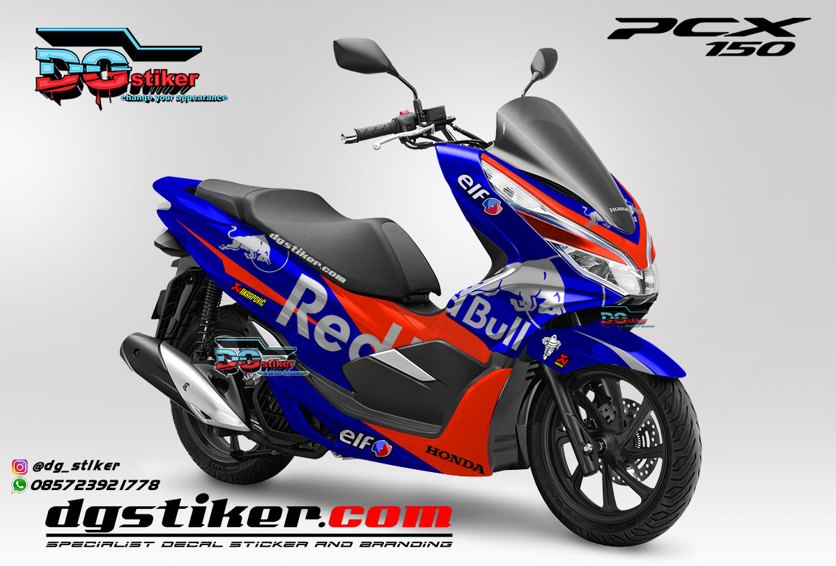 Jual Decal Striping Pcx 150 Lokal 2018 Redbull Tech3 DG Stiker