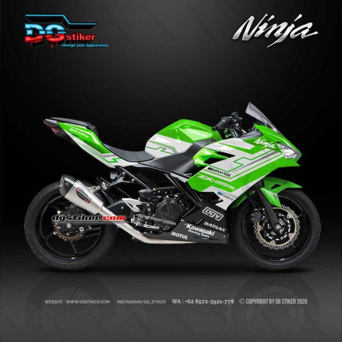 Decal Sticker Ninja 250R FI 2018 Racing Green Hitech DG Stiker