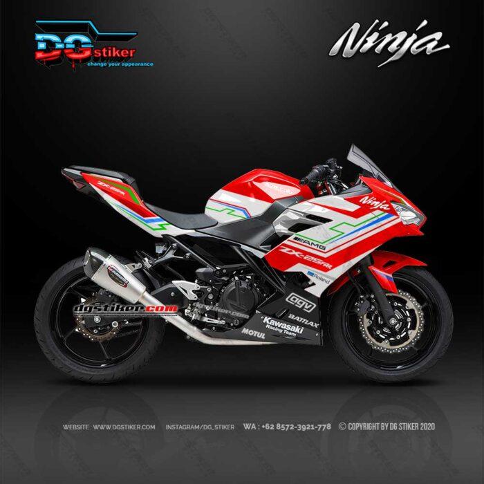 Decal Sticker Ninja 250R FI 2018 Racing Merah Hitech DG Stiker