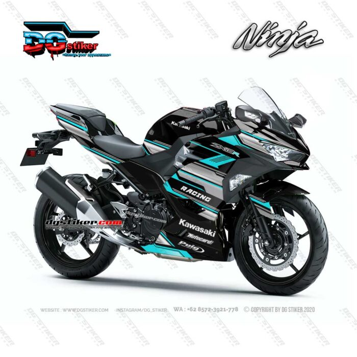 Decal Sticker Ninja 250R FI 2018 Cyan Racing Line DG Stiker