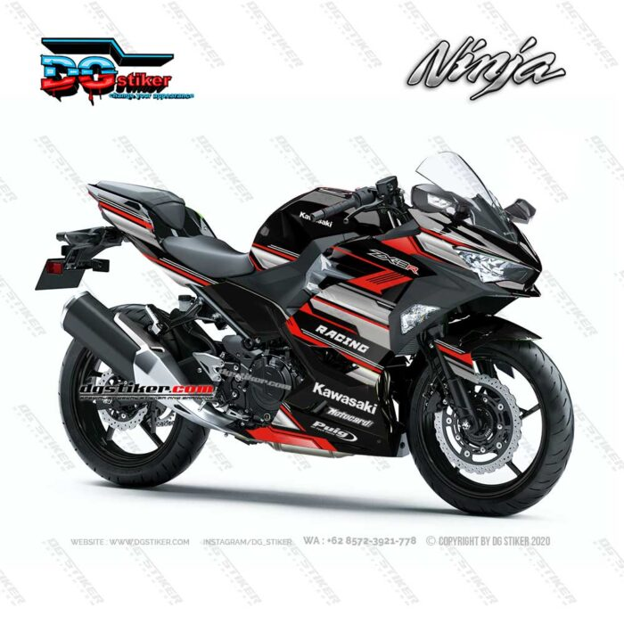 Decal Sticker Ninja 250R FI 2018 Merah Racing Line DG Stiker