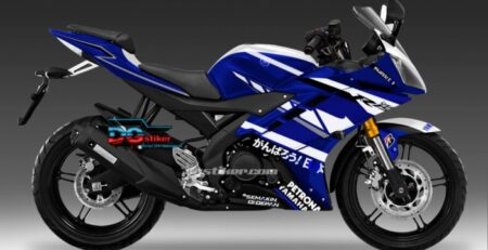 Decal Sticker R15 V2 Biru Racing DG Stiker