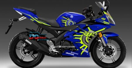 Decal Sticker R15 V2 Biru Sun VR46 DG Stiker