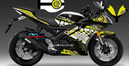 Decal Sticker R15 V2 Hitam Iannone DG Stiker