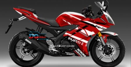 Decal Sticker R15 V2 Merah Racing DG Stiker
