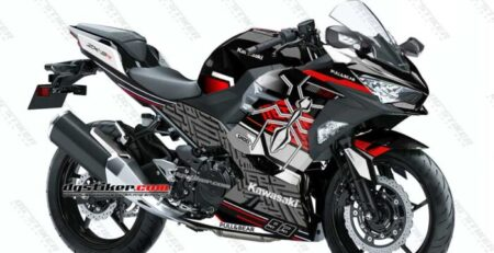 Decal Sticker Ninja 250R FI 2018 Black Spirit Marquez DG Stiker