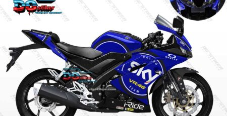 Decal Striping R15 V3 Biru SKY VR46 DG Stiker