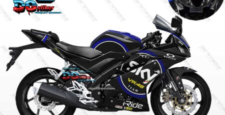Decal Striping R15 V3 Hitam SKY VR46 DG Stiker