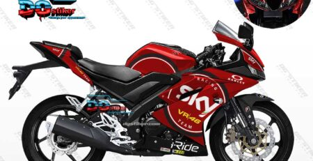 Decal Striping R15 V3 Merah SKY VR46 DG Stiker
