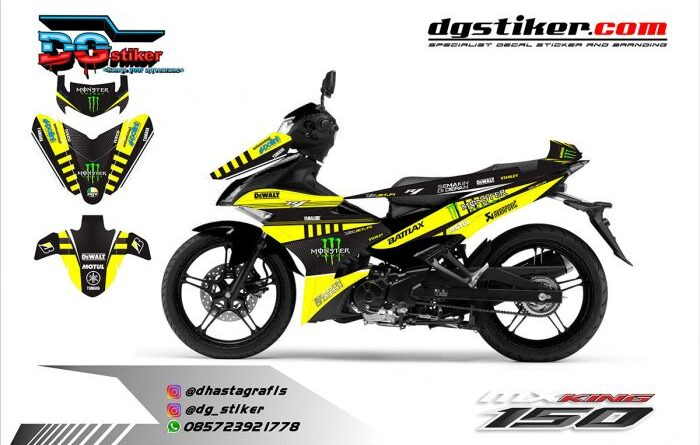 Decal Mx King Hitam Kuning Monster Dewalt DG Stiker