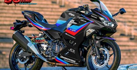 Decal Sticker All New Ninja 250R FI Hitam BMW DG Stiker