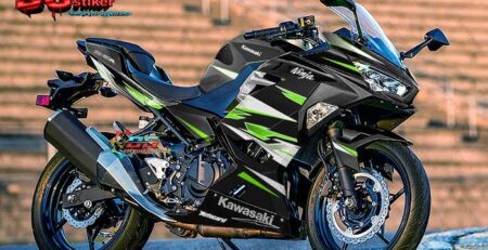 Decal Sticker All New Ninja 250R FI Racing Black Green DG Stiker