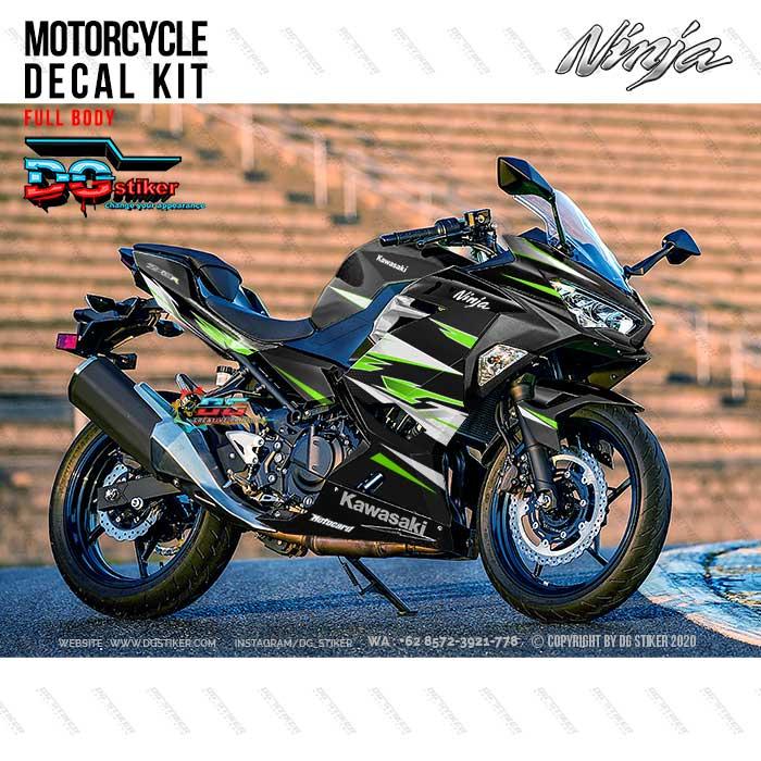 Decal Sticker All New Ninja 250R FI Racing Black Green DG Stiker