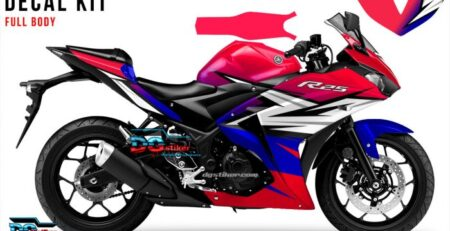 Decal Sticker R25 Biru Pink Racing Hitech DG Stiker