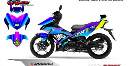 Decal Striping Mx King Shark Chameleon DG Stiker