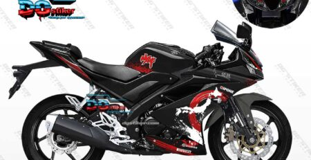 Decal Striping R15 V3 Hitam Yakuza DG Stiker
