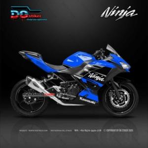 Decal Sticker New Ninja 250 FI Hitam Biru Simpel DG Stiker