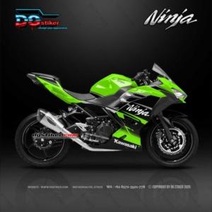 Decal Sticker New Ninja 250 FI Hitam Hijau Simpel DG Stiker