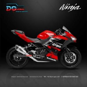 Decal Sticker New Ninja 250 FI Hitam Merah Simpel DG Stiker