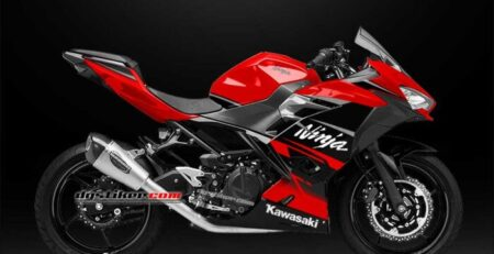 Decal Sticker New Ninja 250 FI Hitam Merah Simpel DG Stiker