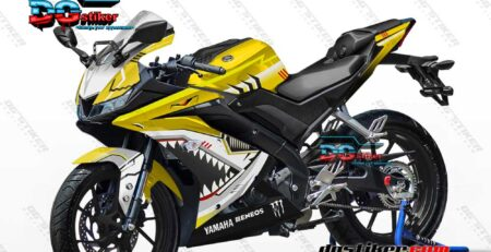Decal Striping R15 V3 Kuning Shark Hitech DG Stiker