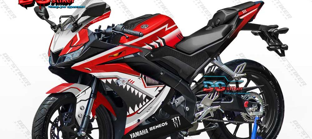 Decal Striping R15 V3 Merah Shark Hitech DG Stiker