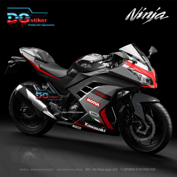 Decal striping ninja 250 fi Abu Simpel DG Stiker