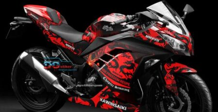 Decal Sticker Ninja 250 fi Red Dragon DG Stiker