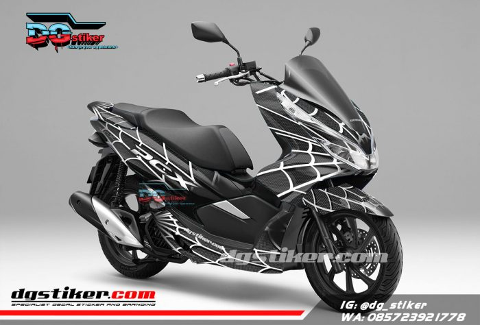 Decal Sticker Pcx New Hitam Spider DG Stiker