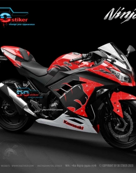 Decal sticker ninja 250 fi merah Singa DG Stiker