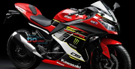 New Design Decal Striping Ninja 250 Fi Merah 2018 DG Stiker