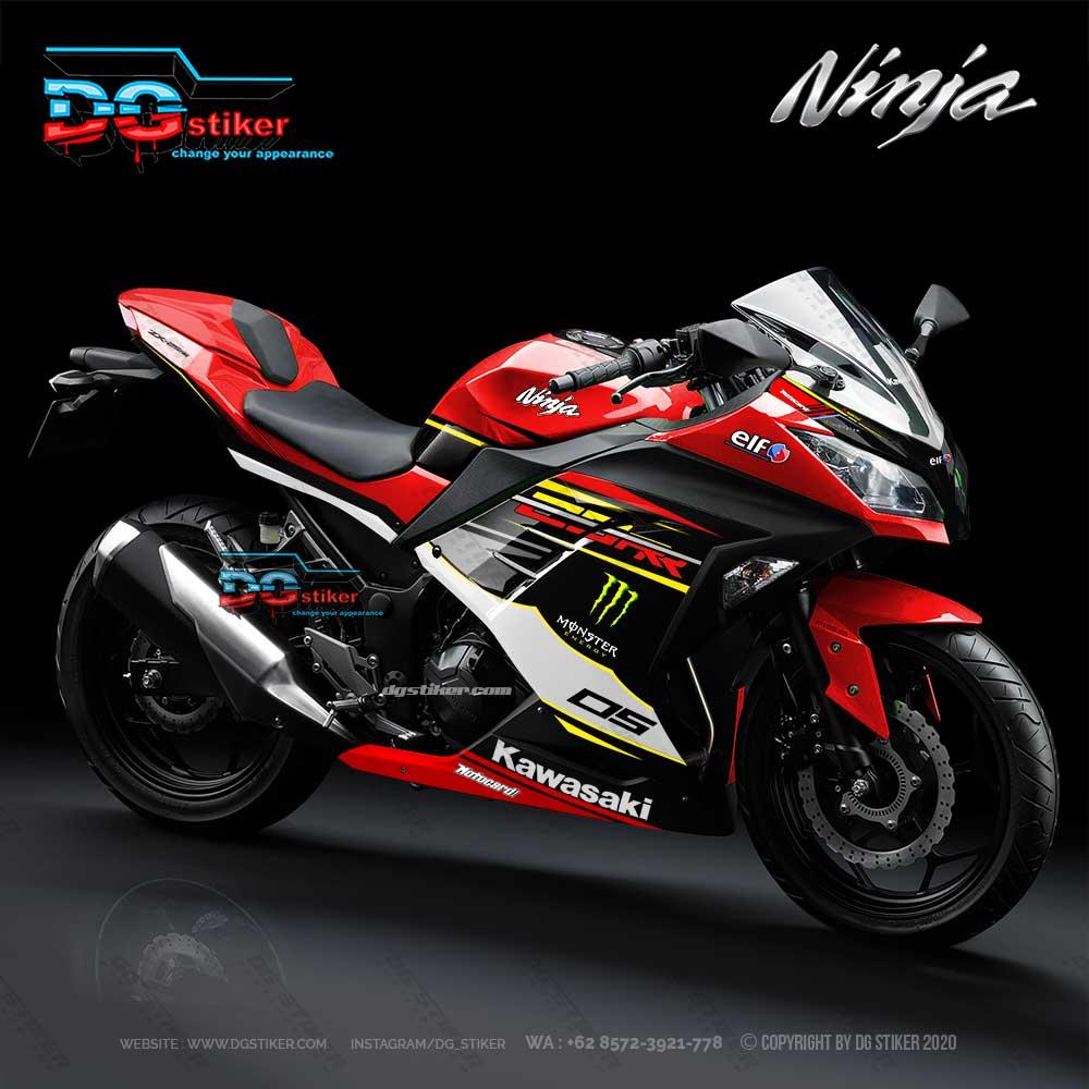 New Design Decal Striping Ninja 250 Fi Merah 2018 DG Stiker