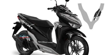 Striping Full Body Vario 150 2018 Hitam silver Malaysia Livery DG Stiker