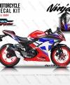Decal Ninja 250 FI Red Stars DG Stiker
