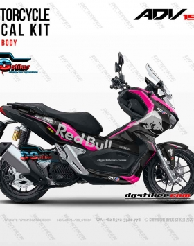 Decal Sticker New ADV 150 Hitam Pink Redbull Tech3 DG Stiker