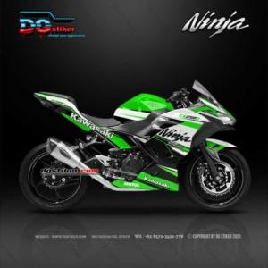 Decal Sticker Ninja 250 R FI Racing Line Green DG Stiker