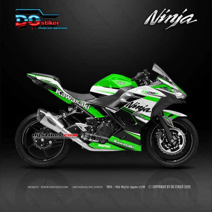 Decal Sticker Ninja 250 R FI Racing Line Green DG Stiker