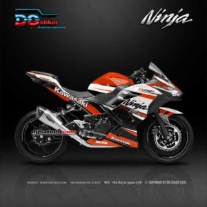 Decal Sticker Ninja 250 R FI Racing Line Orange DG Stiker